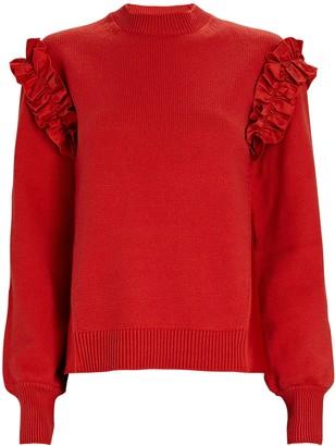ADEAM Ruffle Shoulder Sweater