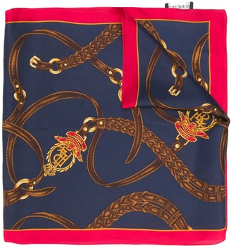 Lauren Ralph Lauren Nautical-Theme Silk Scarf