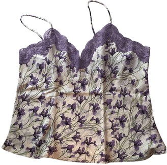 Christian Dior Purple Silk Tops