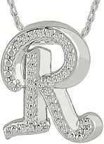 FINE JEWELRY 1/7 CT. T.W. Diamond Sterling Silver Initial R Pendant Necklace