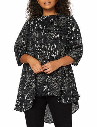 Yumi Women's London-Animal Printed HIGH Low Tunic TOP Shirt