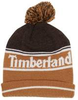 Timberland Colorblocked Knit Cuff Pompom Beanie (Little Kid)