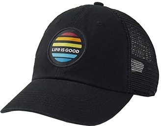 Life is Good LIG Sunrise Soft Mesh Back Cap (Jet Black) Caps