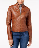 Maralyn & Me Faux-Leather Moto Jacket