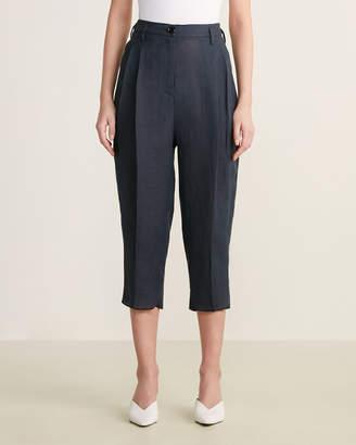 4-Pocket Cropped Linen Pants