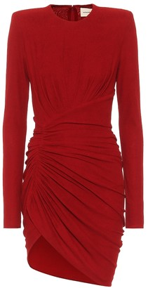 Alexandre Vauthier Ruched stretch-jersey minidress