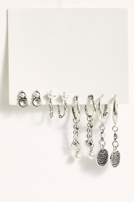Avondayle Coins & Pearls Hoops Set