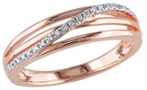 Allura 0.06 CT. T.W. Diamond Ring in Pink Rhodium Plated Sterling Silver (I3)