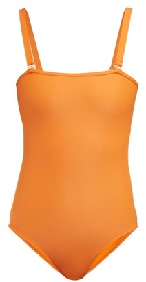 Bower - Off Side Bandeau Swimsuit - Womens - Dark Orange