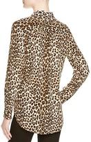 Equipment Shirt - Leopard Print Slim Signature