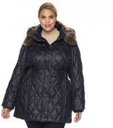 Apt. 9 Plus Size ̈ Hooded Quilted Puffer Jacket