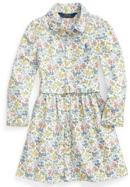 Polo Ralph Lauren Toddler Girl Floral Belted Shirtdress