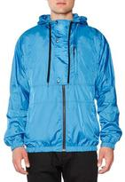 Tomas Maier Nylon Hooded Zip-Up Jacket, Turquoise