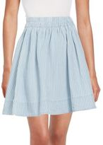 Marc by Marc Jacobs Indigo Striped Cotton & Linen Skirt