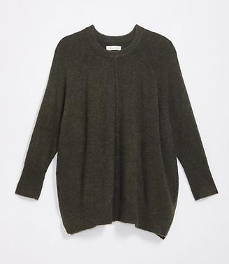 LOFT Lou & Grey Seamed Poncho Sweater