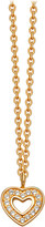 Astley Clarke Mini heart 18ct yellow-gold plated pavé necklace