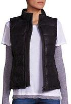 Monrow Vegan Leather Puffer Vest