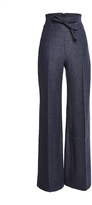 Martin Grant High Waisted Large Pant With Leather Belt