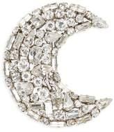 Saint Laurent Crystal Crescent Moon Brooch