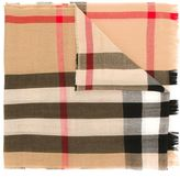 Burberry checked scarf - men - Cashmere/Merino - One Size