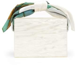 Montunas Guaria Mini Orchid-print Silk Handle Box Bag - Womens - White Multi