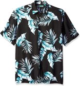 Cubavera Cuba Vera Men's Short Sleeve All Over Tropical Print Woven Shirt