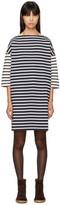 YMC Navy & Ecru Striped Pauline Sweater Dress