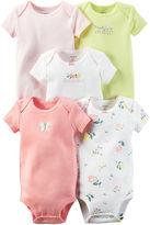 Carter's 5-pk. Short-Sleeve Bodysuits - Baby Girls newborn-24m