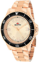 Seapro Tideway Mens Rose-Tone Dial Rose-Tone Stainless Steel Bracelet Watch