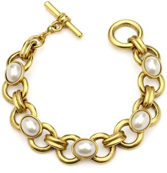 Ben Amun Pearly Chain-Link Bracelet