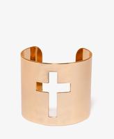 Forever 21 Cutout Cross Cuff