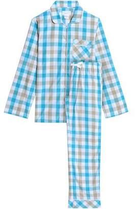 Three J NYC Jamie Gingham Cotton-poplin Pajama Set