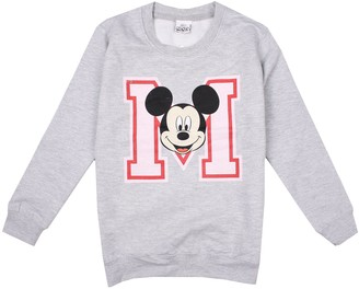 Disney Girl's Mickey Mouse College Sweatshirt