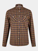 Burton Burton Navy Ginger Long Sleeve Check Shirt
