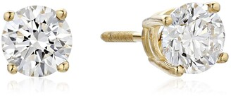 Amazon Collection IGI Certified 18k Yellow Gold Lab Grown Diamond Stud Earrings (1cttw G-H Color VS1-VS2 Clarity)