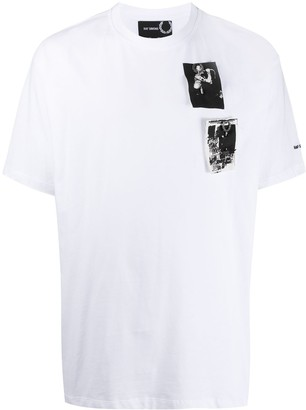 Fred Perry printed patch oversized T-shirt