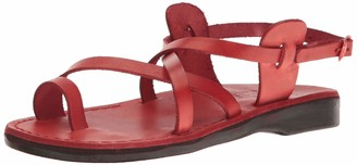 Jerusalem Sandals Women's The Good Shepherd Buckle Toe Ring Sandal