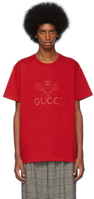 Gucci Red Oversized Tennis Club T-Shirt