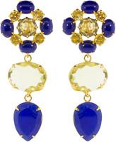 Bounkit Jewelry Lapis and Lemon Quartz Earrings