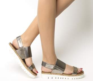 Inuovo Sling Back Sandals Pewter