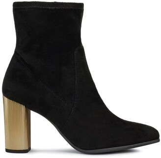 Geox Peython Faux Suede Ankle Boots with Metallic High Heel