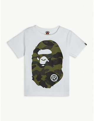 A Bathing Ape Brand and camouflage-print cotton-jersey T-shirt 2-9 years
