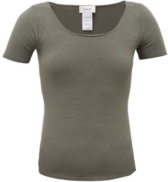 Lemaire Seamless Stretch-jersey T-shirt - Khaki