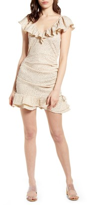 MinkPink Ruched Minidress