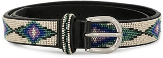 Isabel Marant Elsa beaded buckle belt
