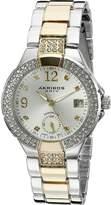 Akribos XXIV Women's AK775TTG Analog Display Swiss Quartz Two Tone Watch