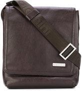 Baldinini logo plaque messenger bag - men - Calf Leather - One Size