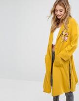 Bershka Embroidered Kimono Jacket