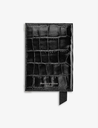 Aspinal of London Crocodile effect leather passport cover