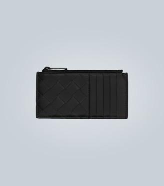Bottega Veneta Intrecciato zipped card holder